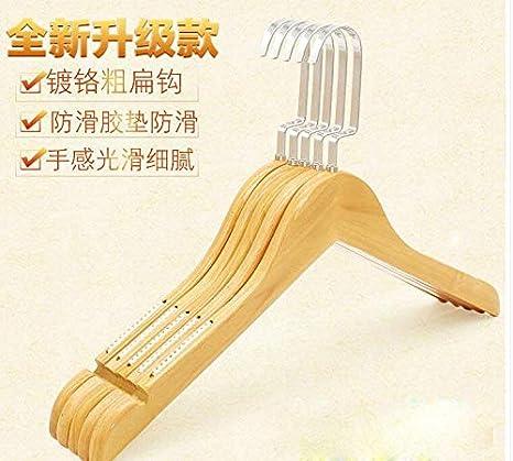 Amazon.com: Xyijia 5Pcs/Lot Adult Solid Wood Hangers Anti ...