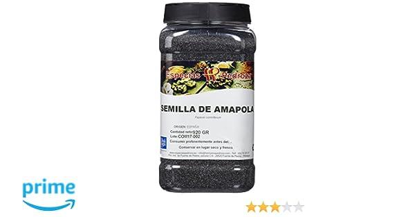 Especias Pedroza Semillas Naturales de Amapola - 920 gr: Amazon.es ...