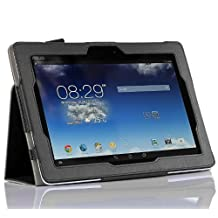 IVSO Slim-Book Stand Cover Case for Acer Iconia A3-A20 10.1-Inch Tablet - with Card Holder & Hand Strap(Black)