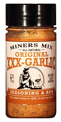Miners Mix XXX Garlic All Natural Low Salt No MSG