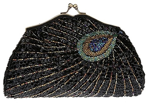 Belsen - Bolso al hombro para mujer multicolor Eye cat negro