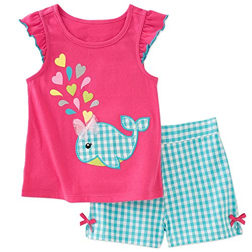 - Frogwill Little Girls 2 Pieces Playwear Set with Bow and Applique (2T, Bunny)