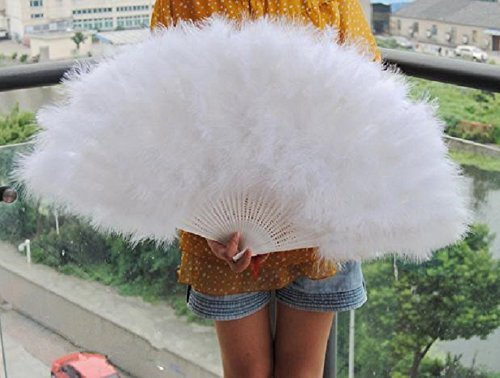 80*45cm Large Burlesque Dance feather fan Bridal Bouquet