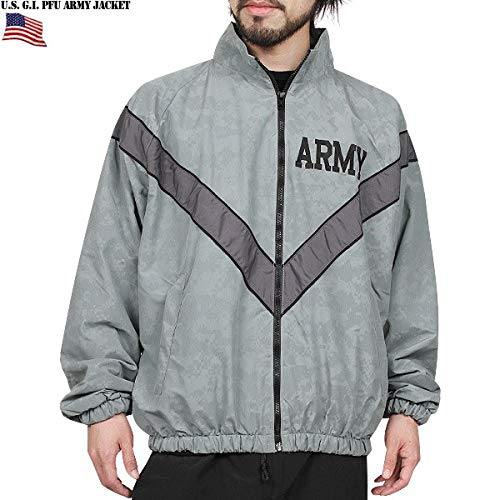 DSCP US Army Military Physical Training Fitness PT Uniform Top Sweat Jacket USGI (Large/Short)