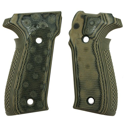 Hogue 26178 Sig P226 Grips, Checkered G-10 G-Mascus Green
