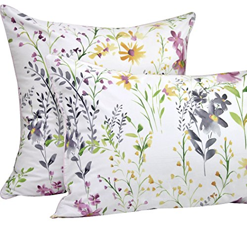 (Queen's House Garden Floral Print Pillow Cases Covers)
