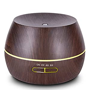 hysure Baby humidifier Essential Oils diffuser Mini Humidifier with Wood Grain Air humidifier for Kids, Home, Room, Spa,Desktop and Whole house, Deep