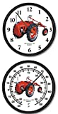 """New Allis Chalmers Model G 10"""" Round Clock & Thermometer Set"""