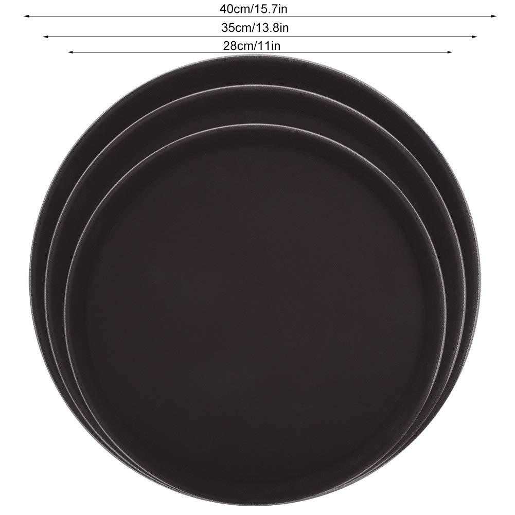 28cm Bandeja redonda para servir de juego de t/é de plato de bebidas para frutas liviano para servir Bandeja para restaurante Bar