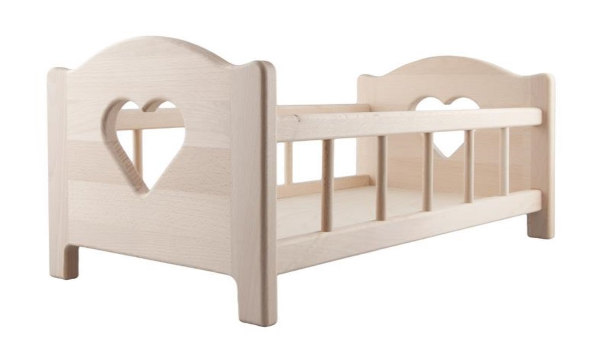 Doll's Wooden Bed QToys4U .
