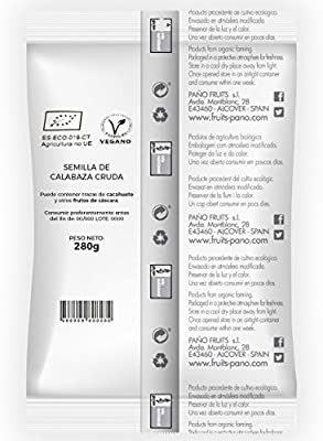 Nuteco Semilla de Calabaza BIO - 4 Paquetes de 280 gr - Total ...