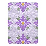 Zazzle Hawaiian Style Flower Quilt Purple Swaddle Blanket