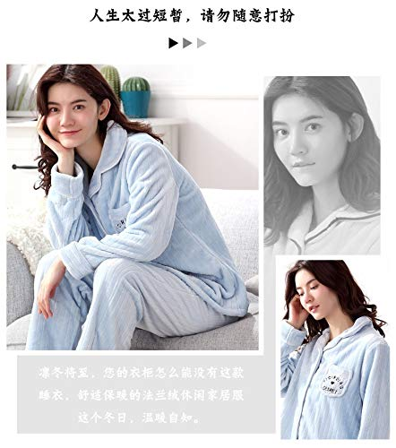 172cm And Fleece Thick Pajamas Long Flannel sleeved 164cm Suit Xxl164 75kg L158 Coral Cardigan Winter Autumn 47 Women Service Home 57kg 65 Pajamasx EaPnwFqxn