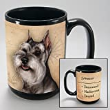 Dog Breeds (L-Z) Schnauzer Cropped 15-oz Coffee Mug Bundle with Non-Negotiable K-Nine Cash by Imprints Plus (150)