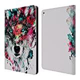 Official Riza Peker Wolf Animals Leather Book Wallet Case Cover For Apple iPad mini 1 / 2 / 3