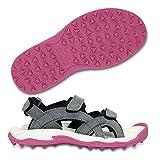crocs Women's XTG Lopro Sandal,Charcoal/Fuchsia,5 M US