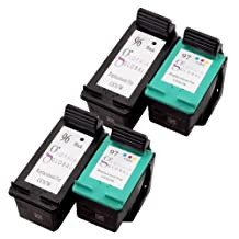 Sophia Global Remanufactured Ink Cartridge Replacement for HP 96 and HP 97 (2 Black, 2 Color)