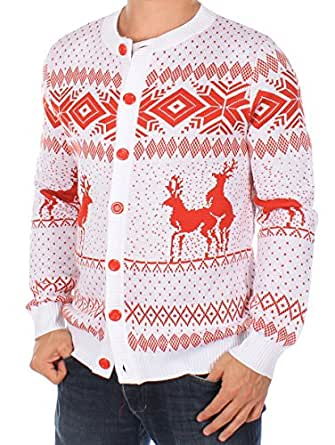 Ugly Christmas Sweater - Reindeer Double Date Ski Sweater by Tipsy Elves (M)