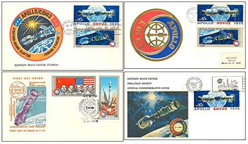 Postal Cover Set of 4 vintage Apollo Soyuz - NASA event envelopes