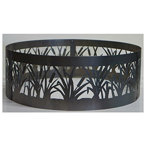 Fire Ring Fire Pit - PD Metal CFR00948 - Cattail Fire Ring - 48 Inch - Black by Quality Brand Company