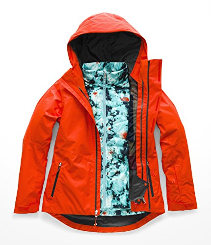 (The North Face Women's Clementine Triclimate Jacket - Valencia Orange -)