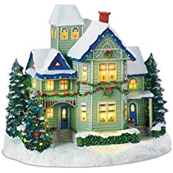 Thomas Kinkade Candle Glow House Sculpture Brings the Village Christmas Spirit to Your Home Decor and Holidays!