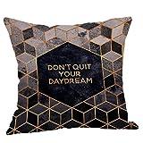 Pillowcase,Hot Sale! Hongxin Geometric Printed Cotton Linen Throw Pillow Cases Sofa Cushion Cover Home Decor (F)