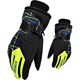 KINEED Women's Winter Waterproof Outdoor Warm Ski Gloves Athletic Cycling Gloves