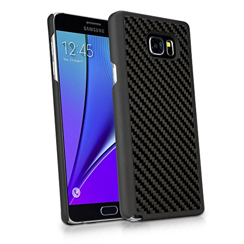 Galaxy Note 5 Case, BoxWave [True Carbon Fiber Minimus Case] Ultra-Strong, Hard Shell Cover for Samsung Galaxy Note 5 - Jet Black