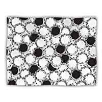 "Kess InHouse Nandita Singh ""Beaded Bangles"" Black White Pet Dog Blanket, 60 by 50-Inch"