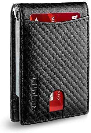Amazon.com: Billetera minimalista con bolsillo frontal ...