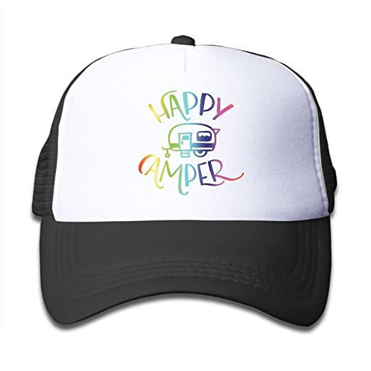 d7d4e912a991e Amazon.com  SSUJ7 Happy Camper Custom Boys Girls Adjustable Baseball ...