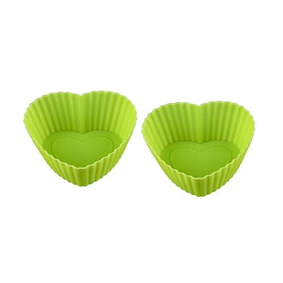 Amazon.com: Pinji 10PCS Moldes de Pastelería para Magdalenas de Silicona Reutilizados #3: Home & Kitchen