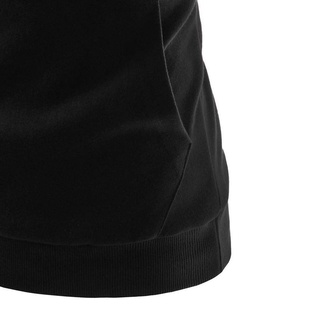 LILICAT Bolsillo de Costura con Contraste suéter con Capucha, Moda para Mujer Color Block Pocket Casual Manga Larga Jersey Sudadera Blusa (Negro, Gris, ...