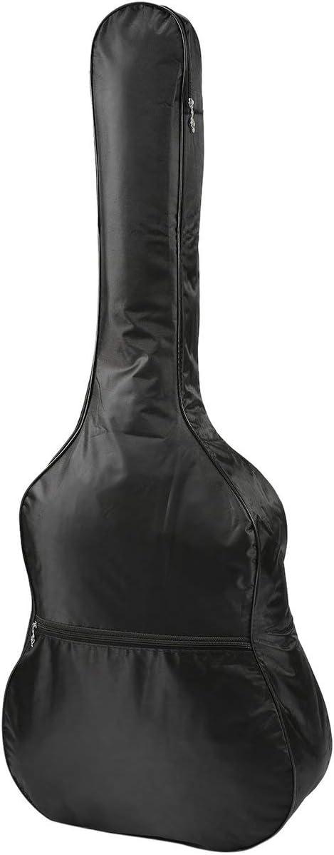 BCVBFGCXVB Bolsa de almacenamiento para guitarra Bolsa de concierto de guitarra ac/ústica de nylon 420D impermeable de 41 pulgadas Funda de funda suave con correa ajustable-negro