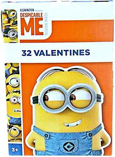 Minions Despicable Me 32 Valentines (1 Box) Classroom Exchange Cards From the Universal Studios Illumination Animated Movies]()