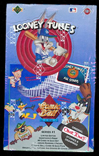 1991-upper-deck-comic-ball-looney-tunes-baseball-card-set-wax-pack-box-bug-bunny