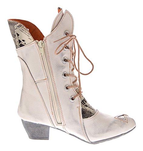 Laarzen Voor Dames Lederen Laarzen Comfortabele Schoenen Tma 7011 Stiefeletten 36-42 Wit
