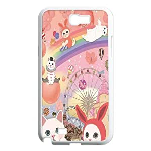LASHAP Phone Case Of pink cute cat,Hard Case !Slim and Light weight and won't fade, Scratch proof and Water proof.Compatible with All Carriers Allows access to all buttons and ports. For Samsung Galaxy Note 2 N7100