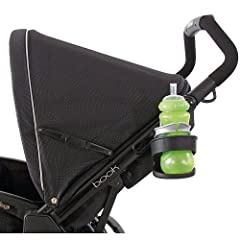 Our stroller cup holder, fits all Peg Perego strollers. Perfect for water bottles or baby bottles, the stroller cup holder stretches to keep the cup secure and safe from spills.