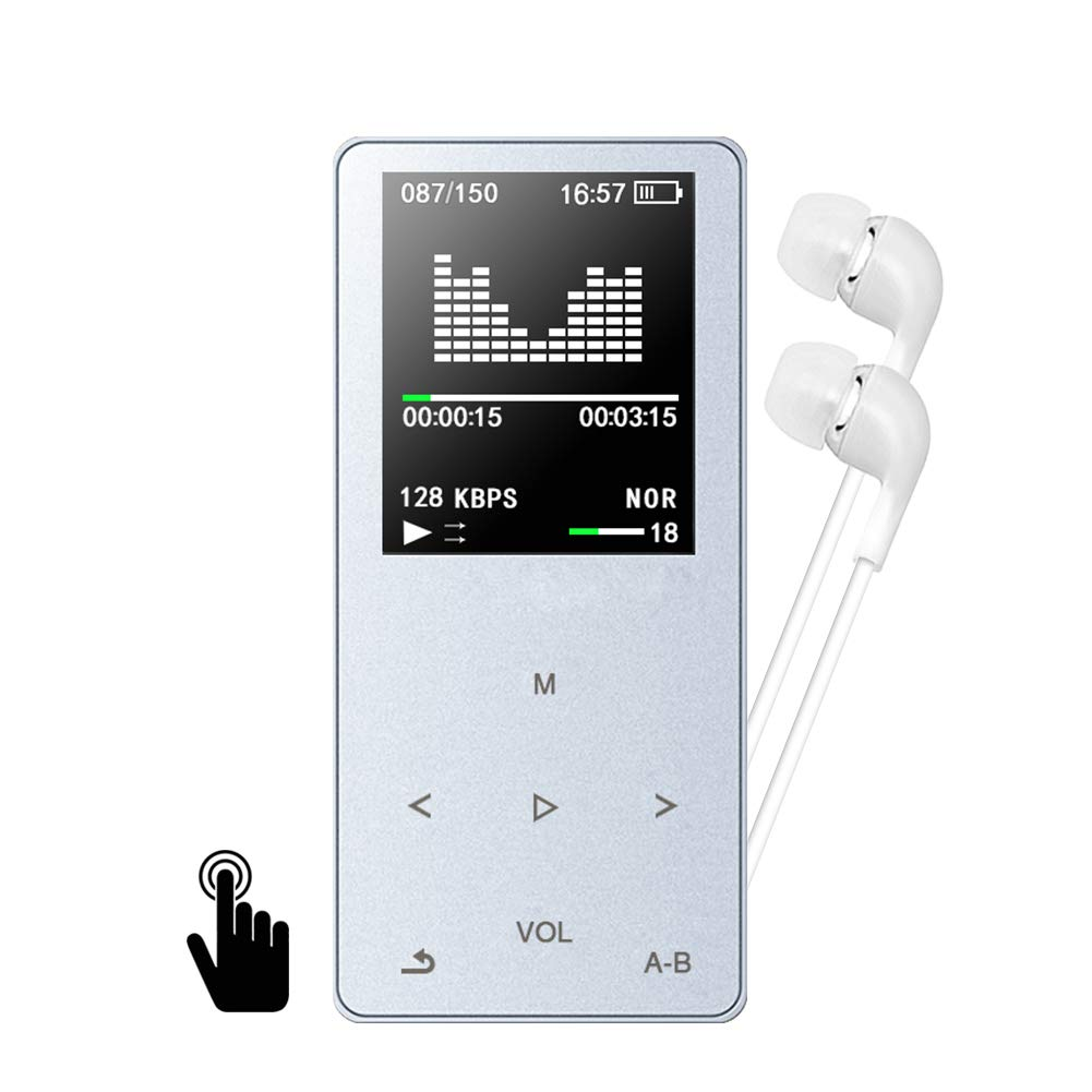 Lecteur MP3 MP4, GotechoD baladeur MP3 8 G avec Boutons tactiles, Lecteur de Musique,autonomie de 80 Heures,Radio FM,vidéo,e-Book mémoire Extensible jusqu'à 128 Go avec Carte SD vidéo