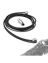 No Tie Shoelaces for Kids and Adults, TUPSKY Metal Lace Lock with Elastic Shoe Laces System for Sneaker Running Shoes, Board Shoes and Casual Shoes
