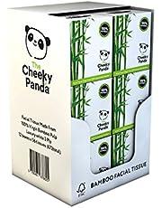 The Cheeky Panda 100 % plastfri bambu ansiktsservettkub, paket med 12, totalt 672 papper