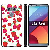 """LG G6 Soft Mold [Mobiflare] [Black] Thin Gel Protect Cover - [Strawberries] for LG G6 [5.7"""" Screen Size]"""