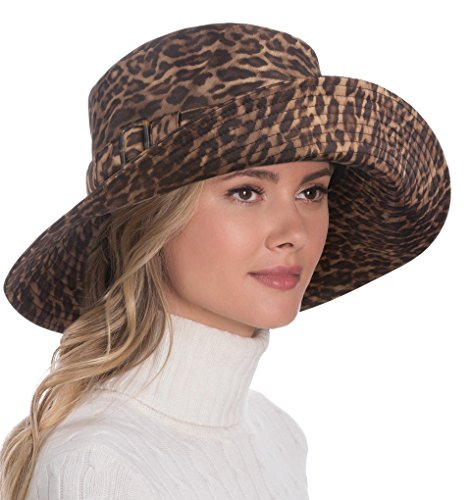 Eric Javits Luxury Fashion Designer Women's Headwear Hat - Kaya - Leopard by Eric Javits