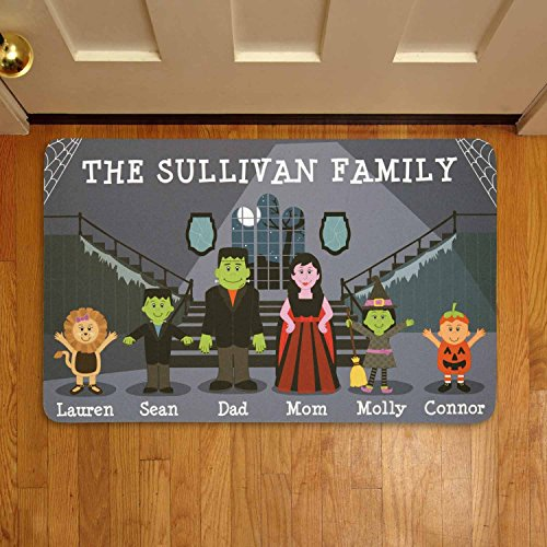 Personalized Spooky Family Doormat (Family Doormats Personalized)