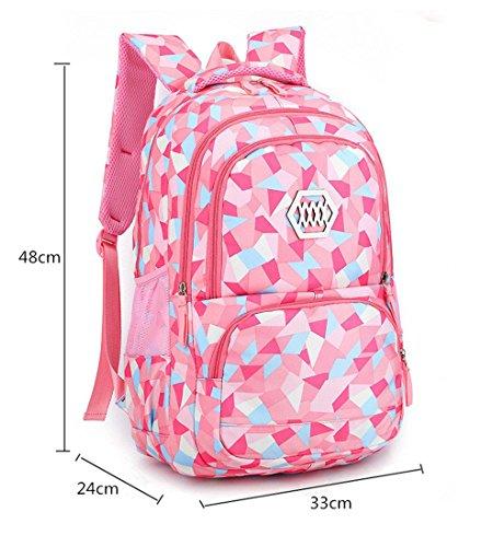 stampano ragazza di leggero di che Rose Bambino dello scuola peso delle ragazze Red Sacchetti del modo della borsa leggeri della zaino Zaino vqnT0OT