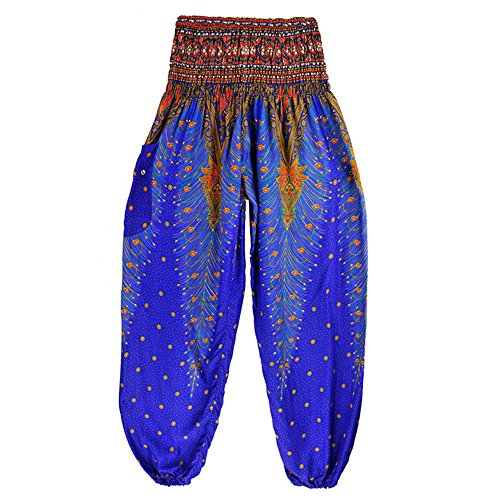 Azuloscuro Femmes Pantalon Yoyogo Boho Pantalons Hommes Haute Hippie Pantalones Thai Harem Yoga Smock Mujer Festival Taille II7gqFZ