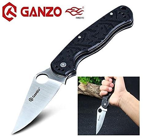 (T. Rex) G10 Cuchillo Plegable de Acero Inoxidable Antideslizante Caza Supervivencia Cuchillo Hunting Folding Knife, con Clip de Bolsillo by Ganzo ...