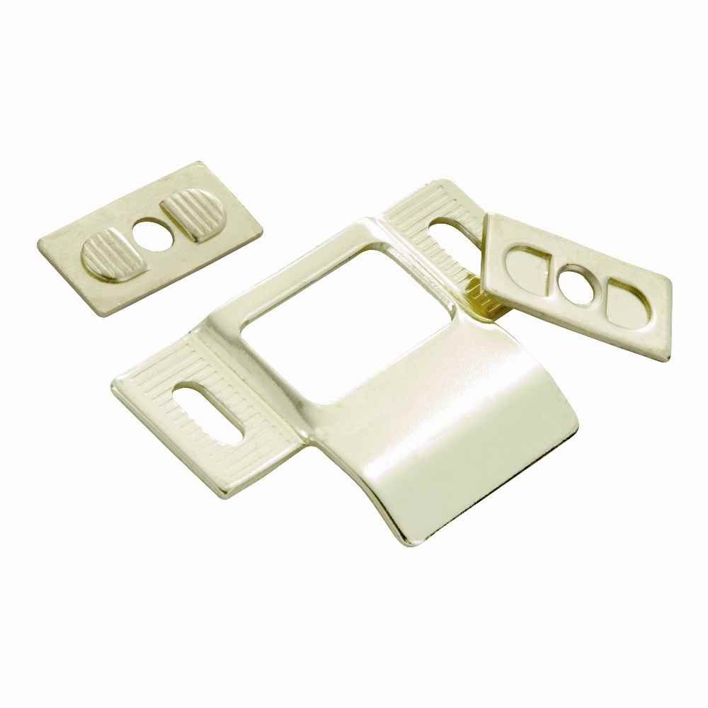 Adjustable Strike 1-1/4 in. x 2-3/4 in. in Polished Brass (Set of 10)